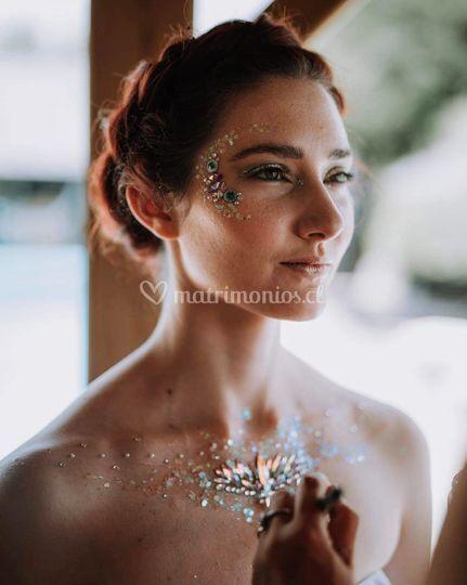 Glitter y gemas