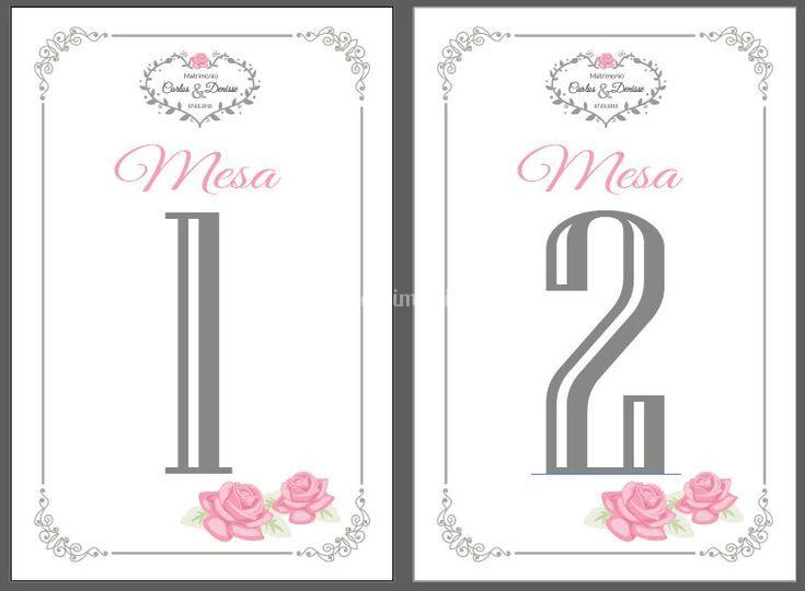 Número para mesas