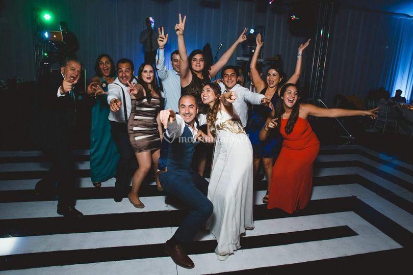 Flashmob de novios e invitados