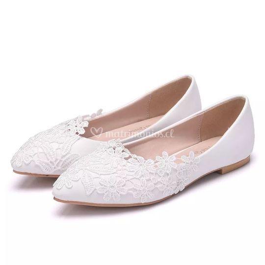 Zapato novia sin taco