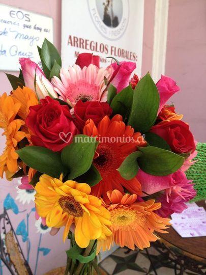Bouquet  Gerveras y Follaje