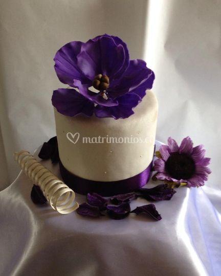 Flor de azúcar para torta