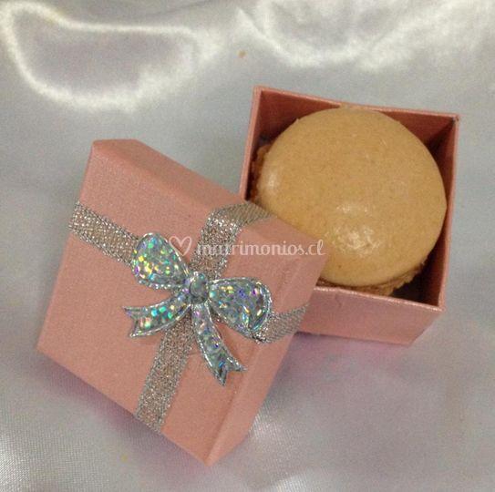 Macarons con crema de maracuyá