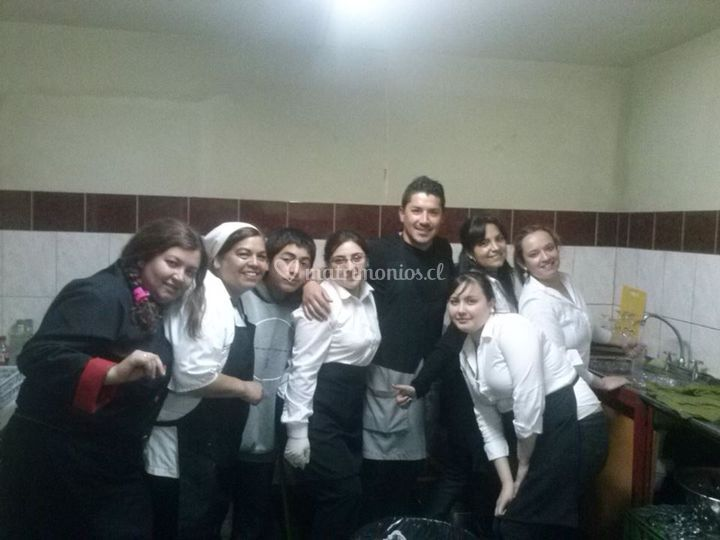 Staff de banquetería