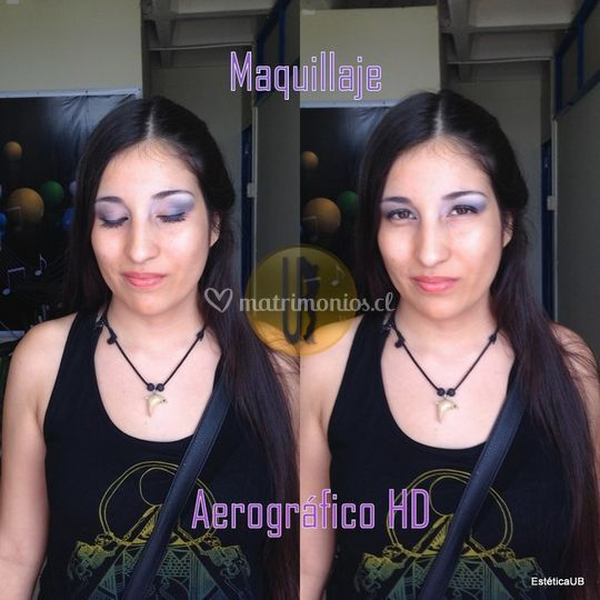 Maquillaje aerográfico