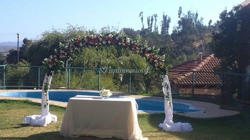 Arco matrimonio Luis Aguilera