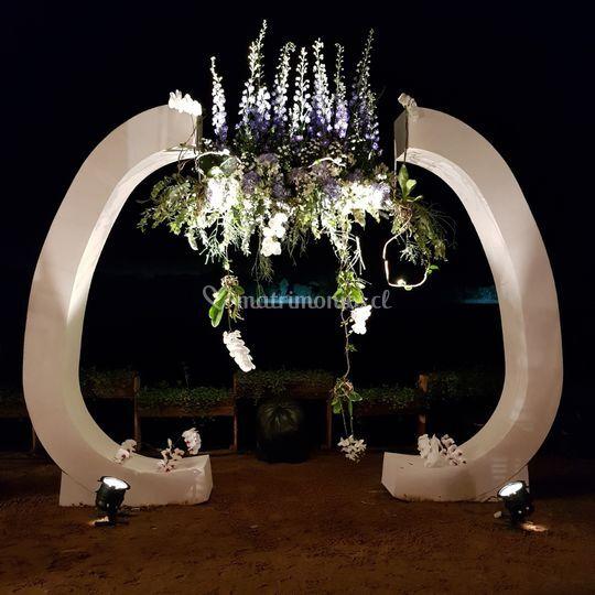 Arco boda arreglo en paralelo