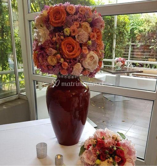 Arreglo mesa boda civil