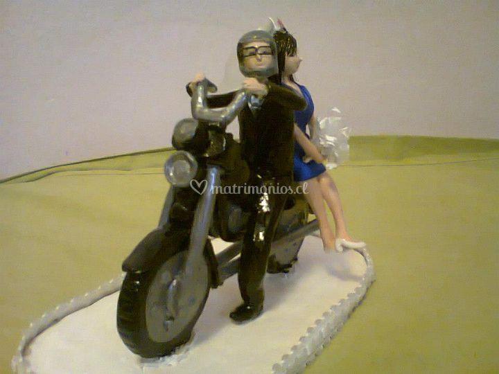 La enfermera y el motoquero