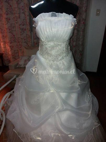 Vestido novia romántica