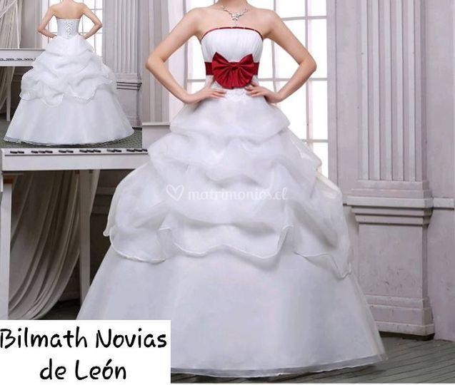 Vestido de novia con lazo