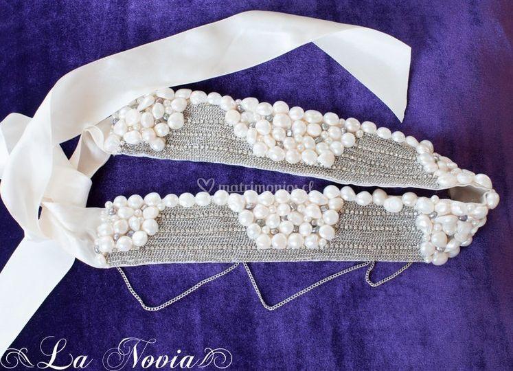 Cintillo de perlas