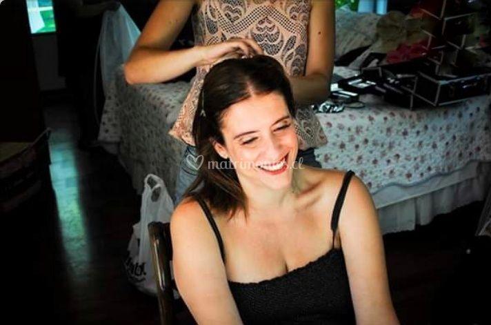 Peinado novia y maquillaje