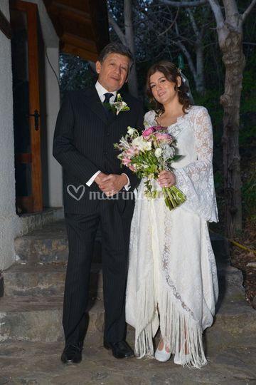 La novia y su papá