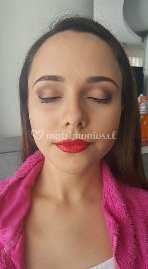 Maquillaje tonos tierras