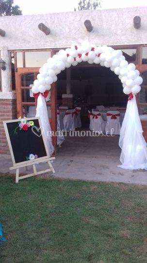 Arco entrada salón