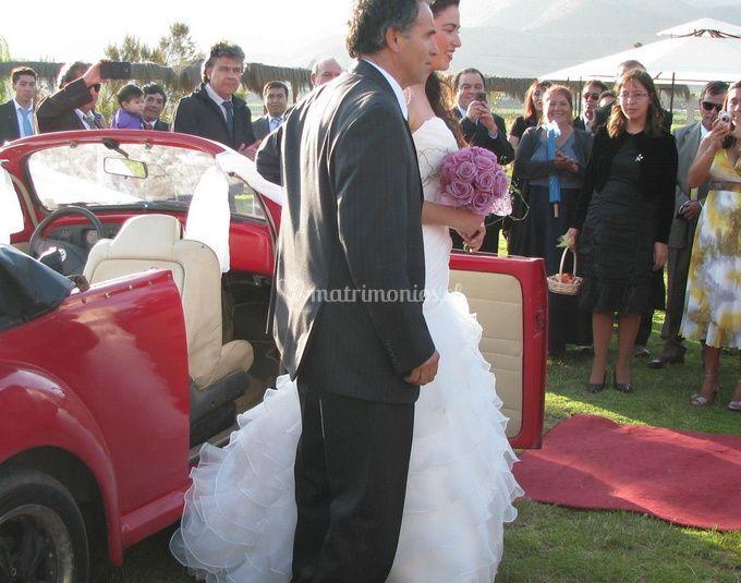 Arribo de la novia