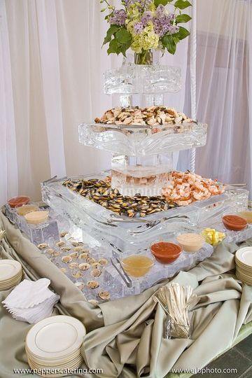 Escultura de hielo banquete.