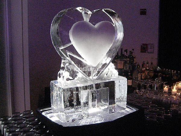 Escultura de hielo.