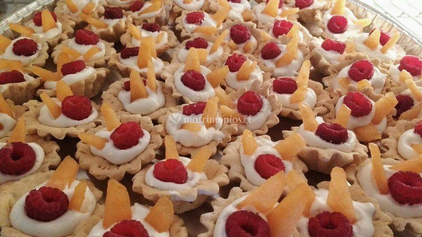 Mini tartas de frutas