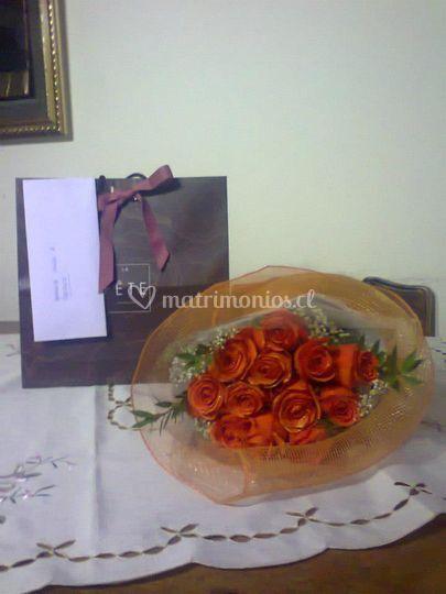 Rosa y chocolates