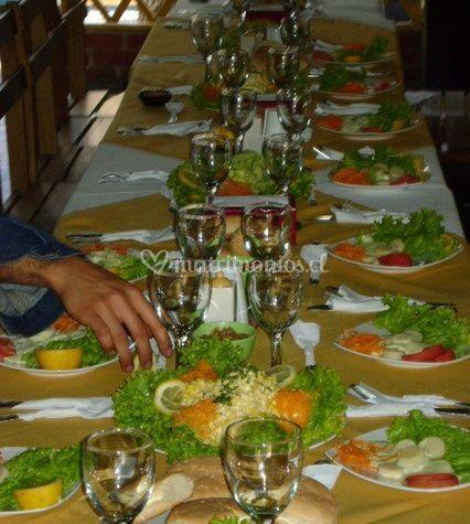 Montaje de las mesas