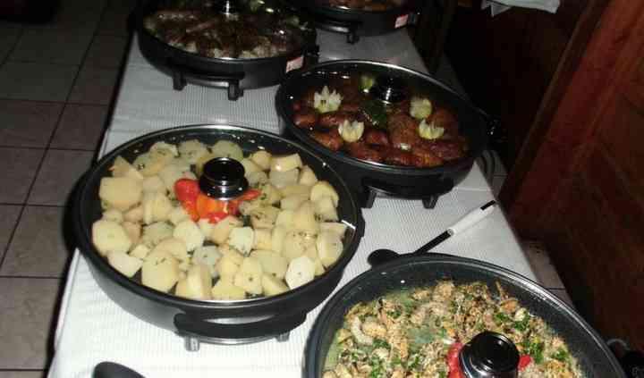 Buffet para el banquete