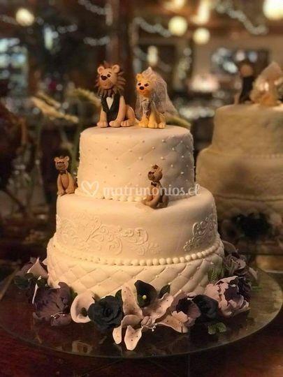 Torta novios leones