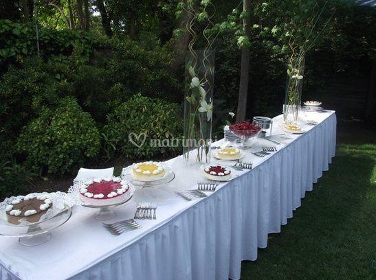 Deliciosa mesa de tortas