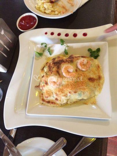 Omelette camarones