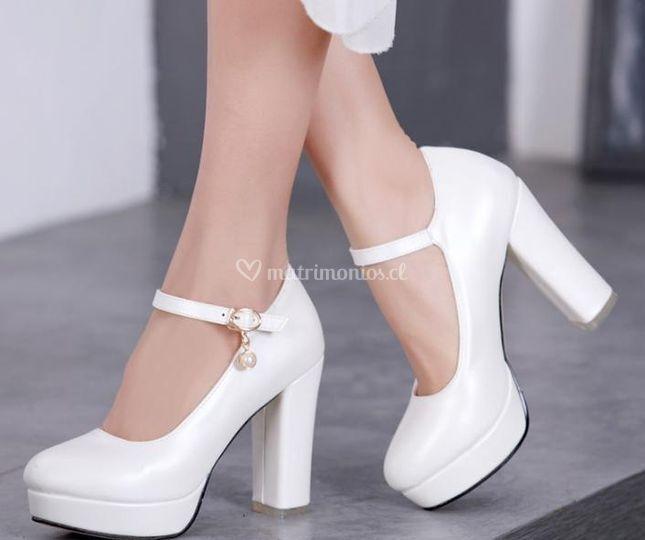 Zapato N°4 Blanco nacarado