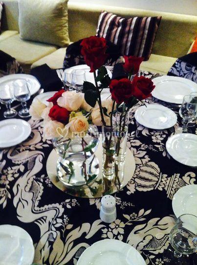 Manteleria y centro de mesa