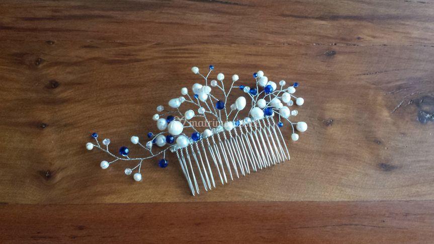 Perlas de río con toque azul