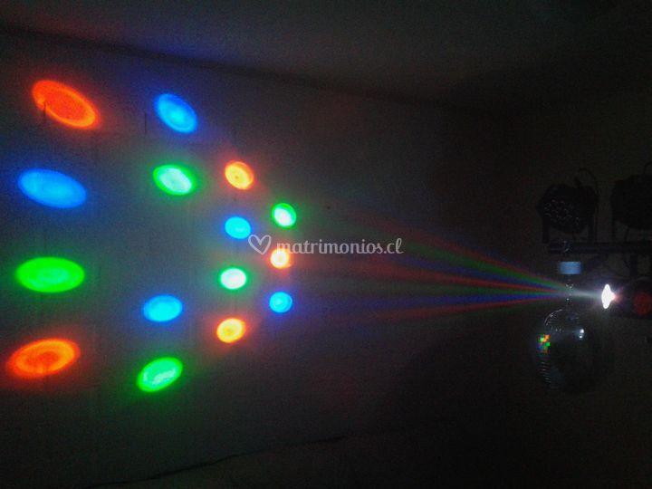 Efecto led colores