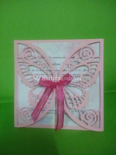 Invitación de mariposa