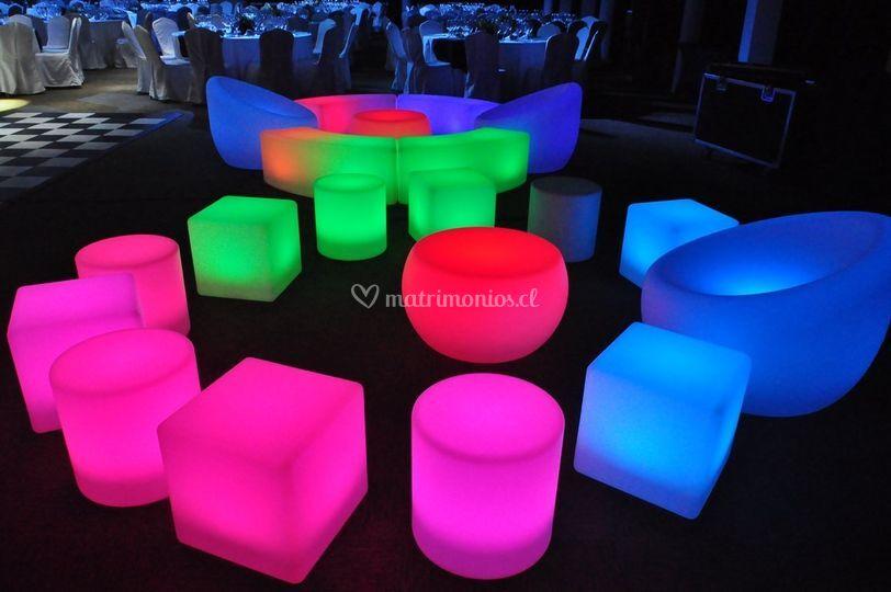 Muebles flúor led