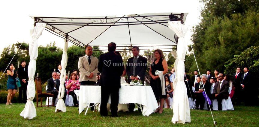 Amplio espacio para ceremonias