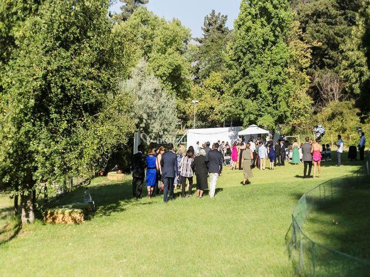 Ceremonia en jardínes