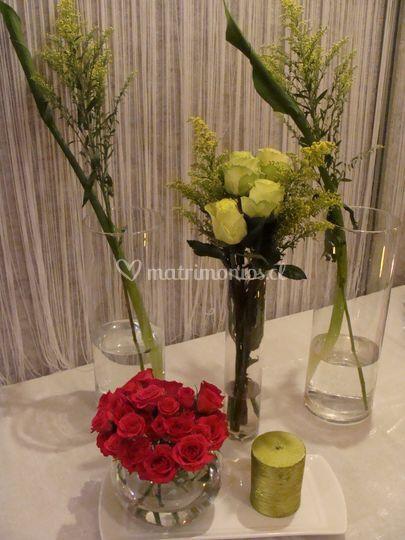 Decoración floral de buffet