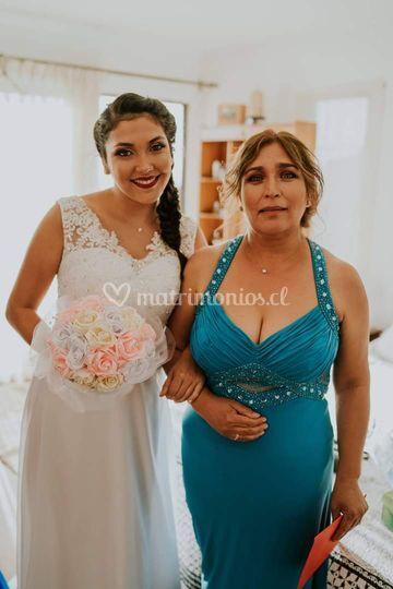 Yasmín y madre