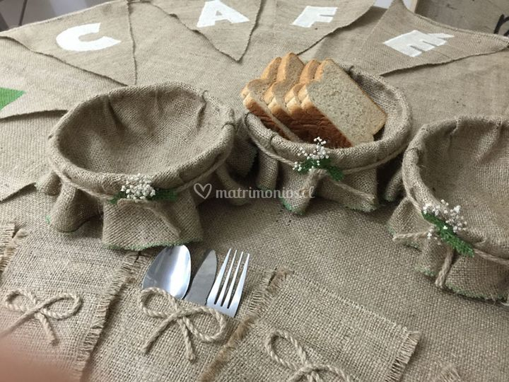 Paneras para decorar mesas