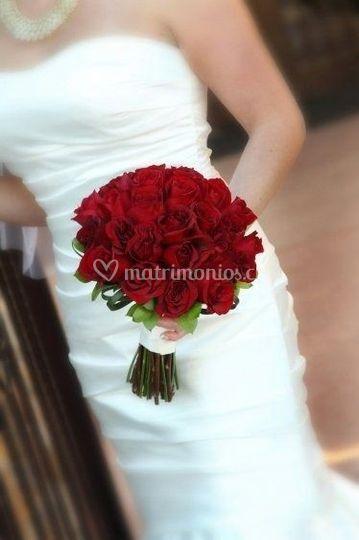 Bouquet novia rojo