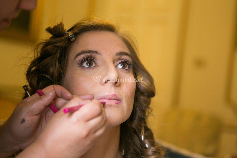 Makeup definición de labios