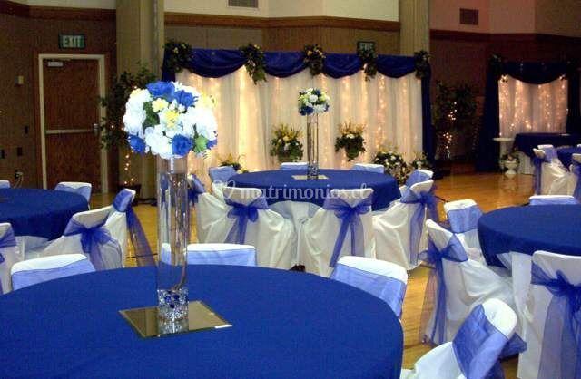 Ornamentación en azul