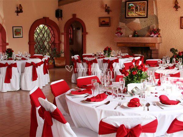 Ornamentación en rojo