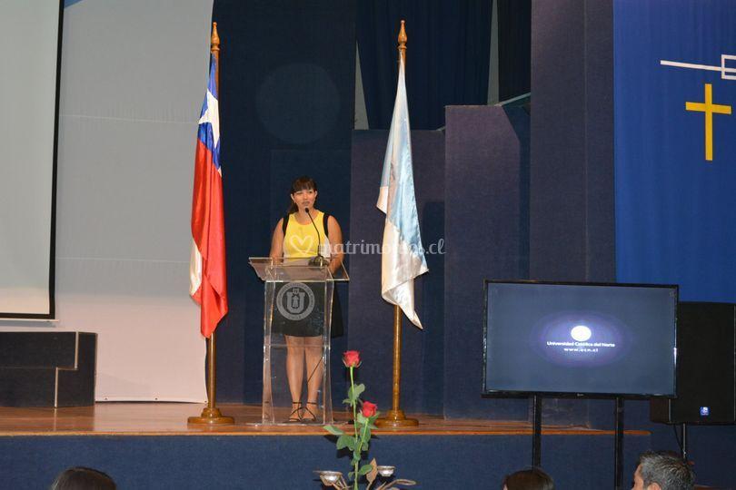 Maestra de Ceremonia UCN