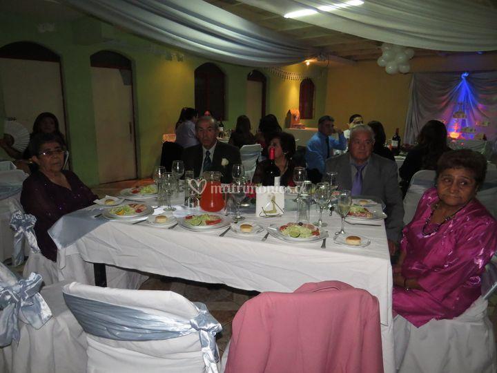 Cena de casamiento