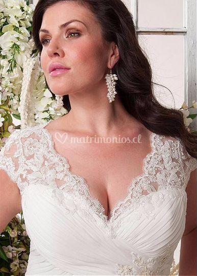 Vestido de novia talla grande en santiago