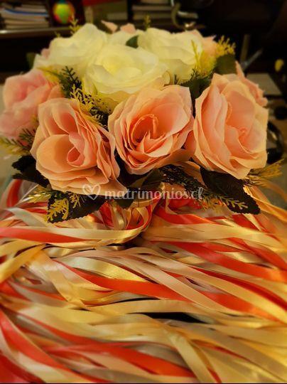 Bouquet y cintas