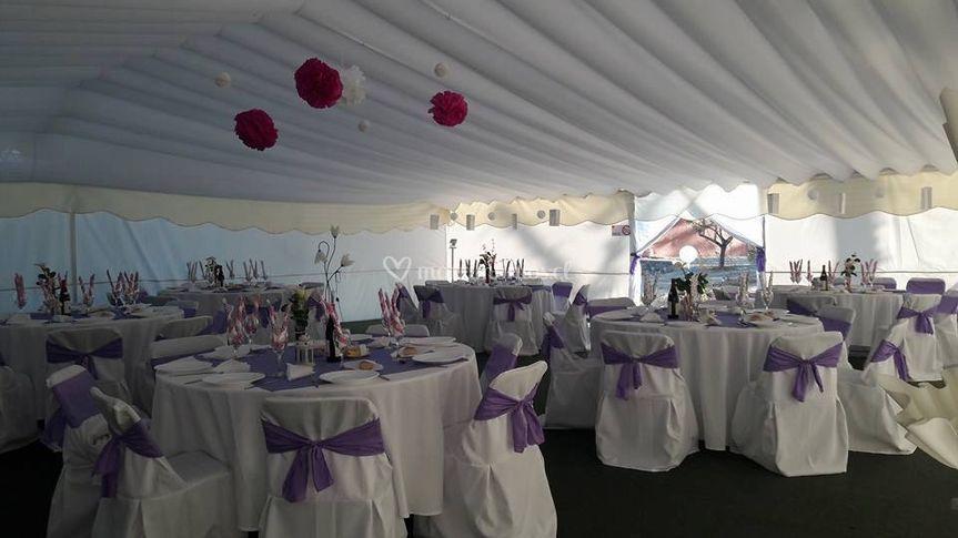 Matrimonio en tonos lila